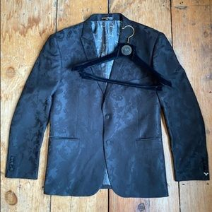 Men's Black Versace Suit Jacket 48R